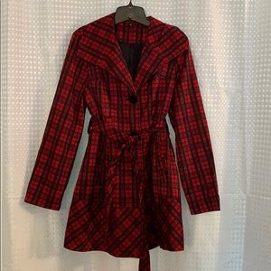 Ambition Plaid Coat  L